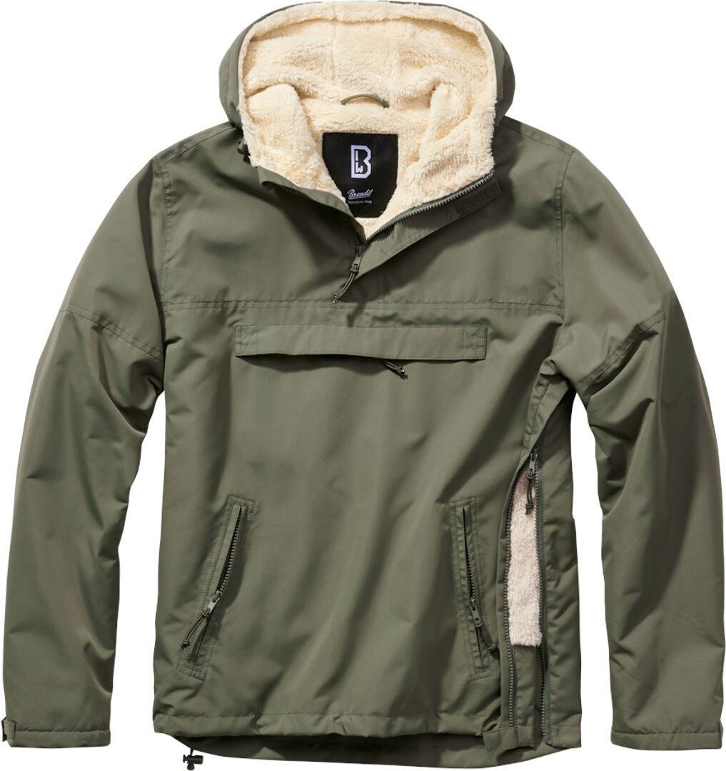 Brandit Windbreaker Sherpa Takki  - Musta - Size: 4XL