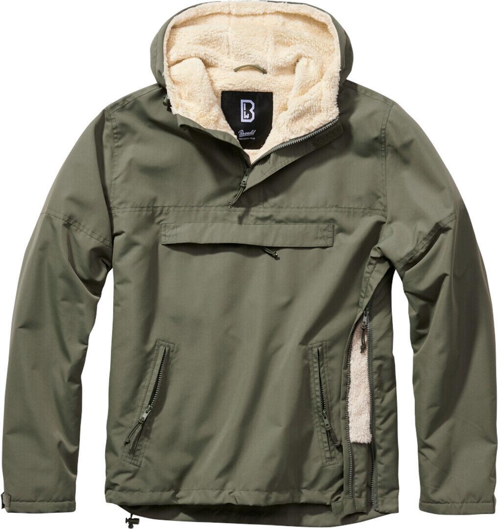 Brandit Windbreaker Sherpa Takki  - Vihreä - Size: M
