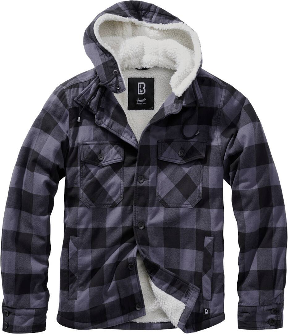 Brandit Lumber Takki  - Musta Punainen - Size: S