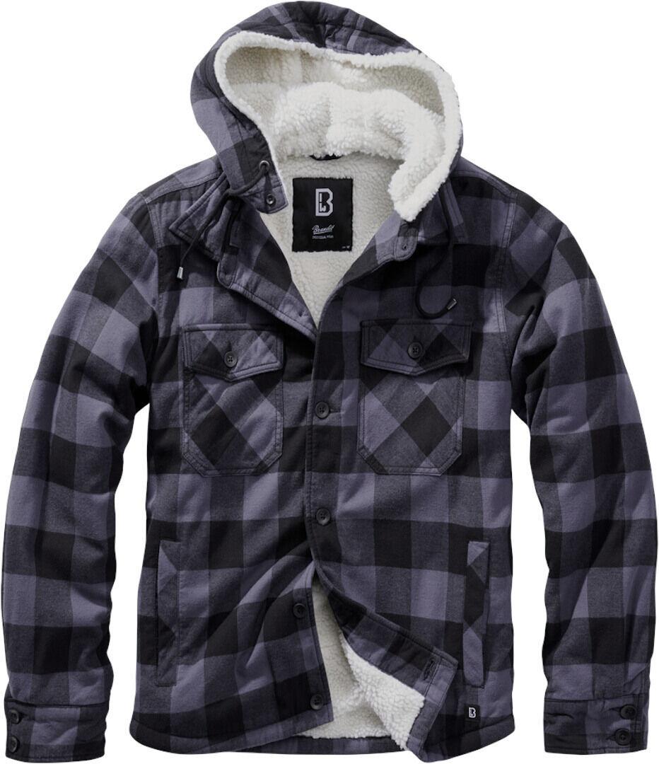 Brandit Lumber Takki  - Musta Punainen - Size: XL