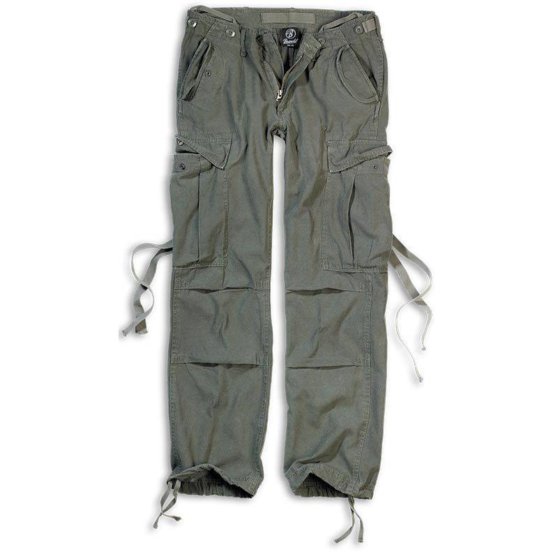 Brandit M-65 Naisten housut  - Vihreä - Size: 28