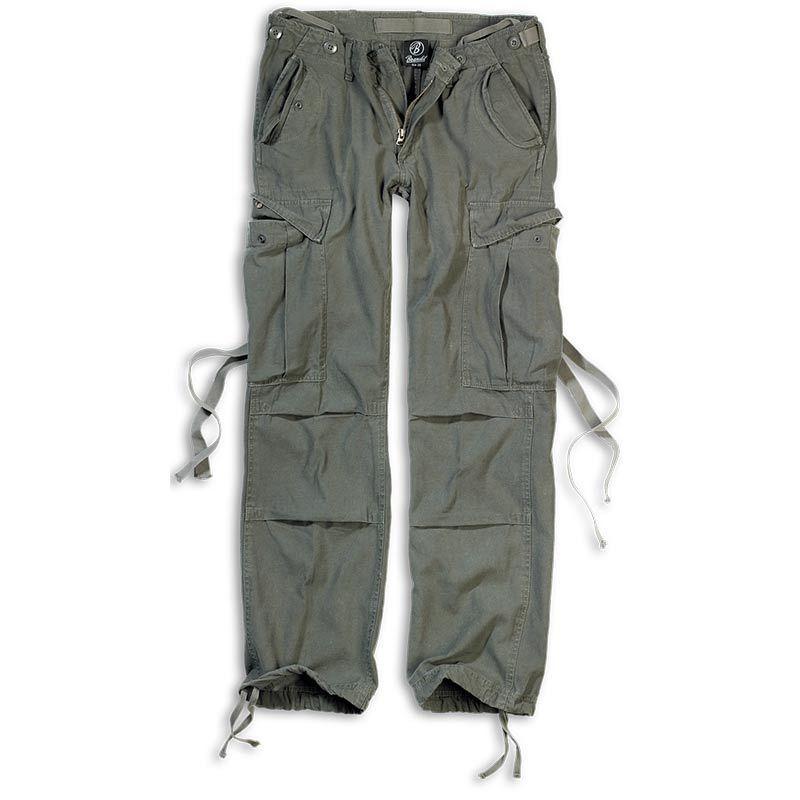 Brandit M-65 Naisten housut  - Vihreä - Size: 27