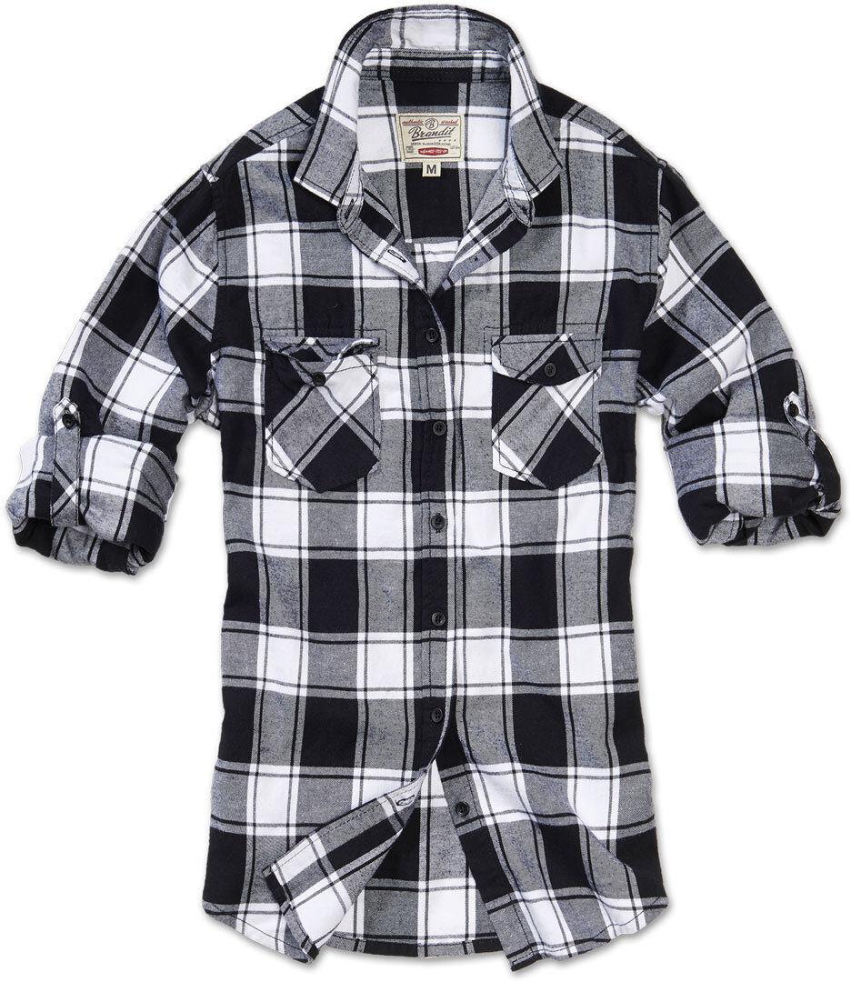Brandit Amy Flanell Women´s paita  - Musta Valkoinen - Size: 3XL