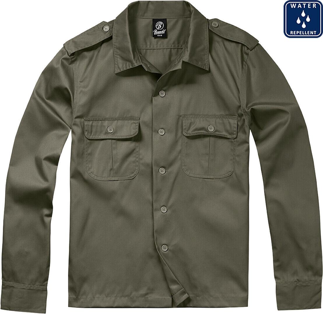 Brandit US pitkähihainen paita  - Vihreä - Size: 3XL