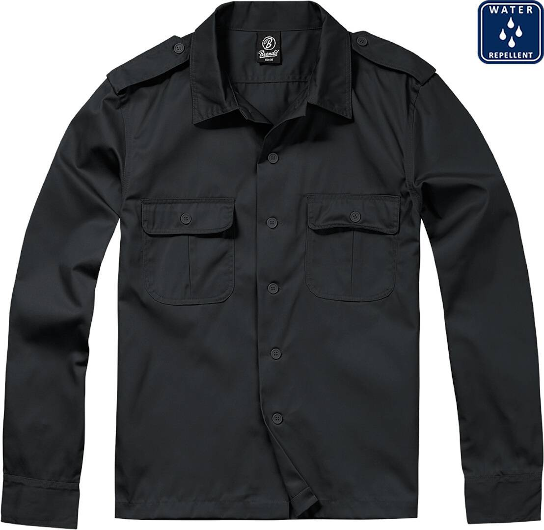 Brandit US pitkähihainen paita  - Musta - Size: 4XL