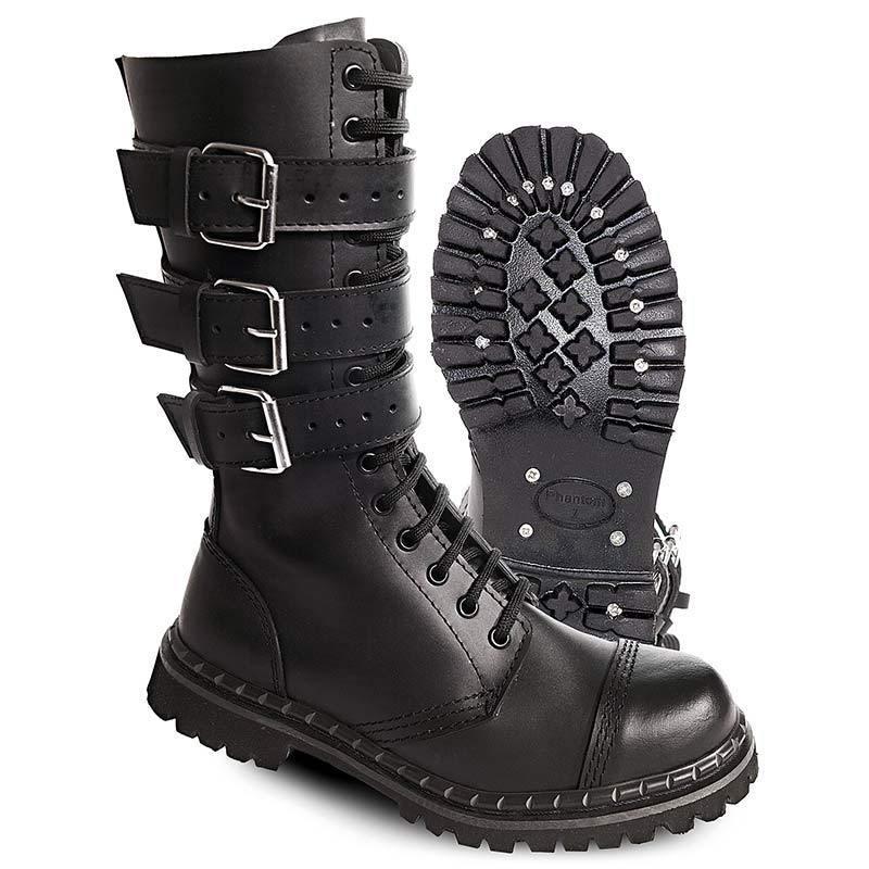 Brandit 3 Buckle Saappaat  - Musta - Size: 44