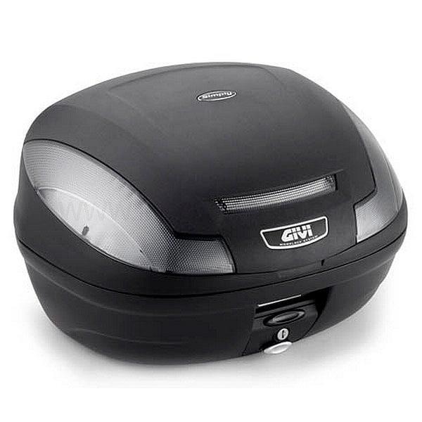 GIVI E470 Simply III Tech Monolock Topcase lautasella  - Musta - Size: 41-50l