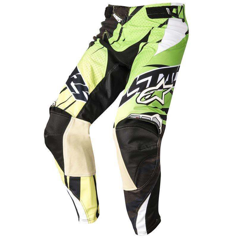 Alpinestars Techstar Motocross-housut  - Musta Vihreä - Size: 28