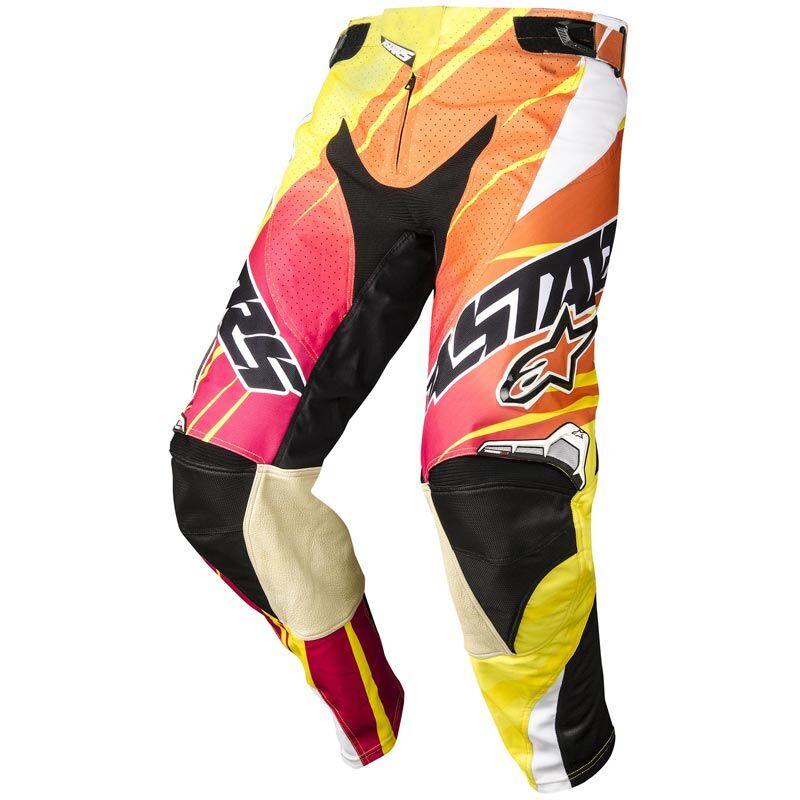 Alpinestars Techstar Motocross-housut  - Keltainen Oranssi - Size: 28