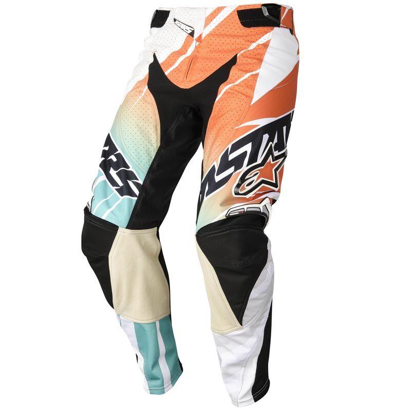 Alpinestars Techstar Motocross-housut  - Valkoinen Oranssi - Size: 34