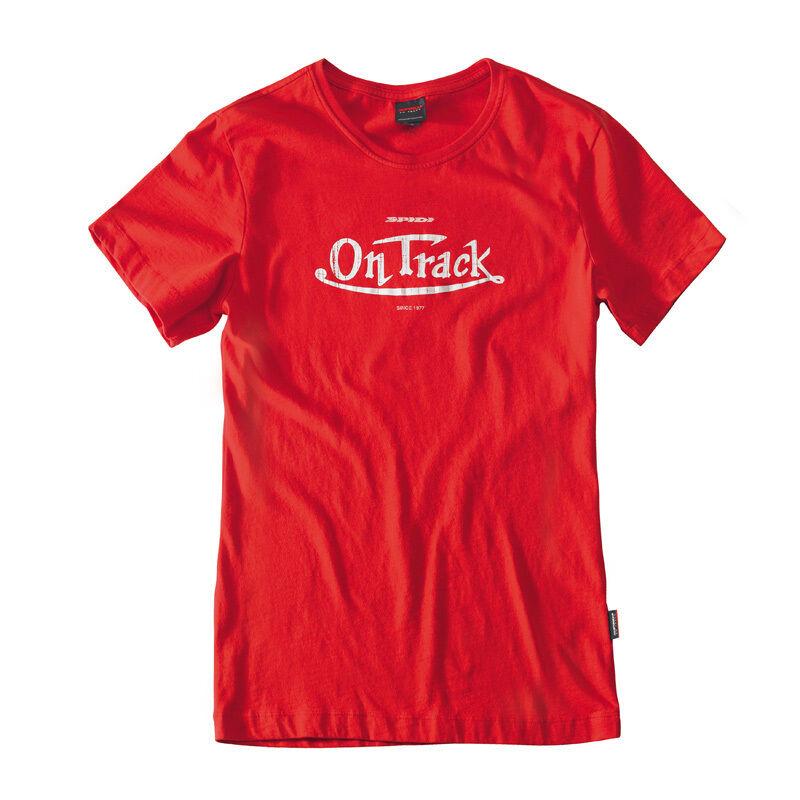 Spidi On Track T-paita-naiset  - Punainen - Size: XL