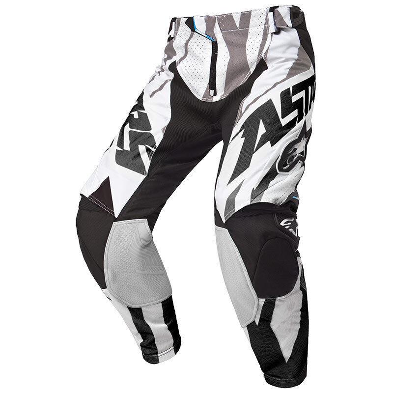 Alpinestars Techstar Motocross housut 2015  - Musta Valkoinen - Size: 28