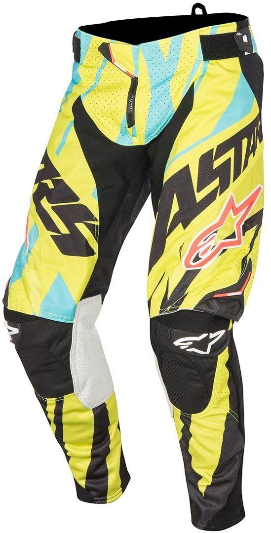 Alpinestars Eli Tomac Techstar Motocross housut  - Musta Keltainen - Size: 30
