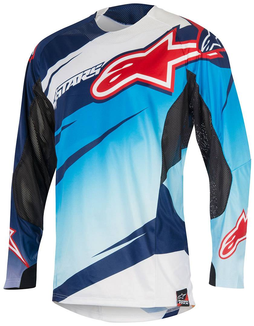 Alpinestars Techstar Venom 2015 Motocross Jersey  - Valkoinen Sininen - Size: 2XL