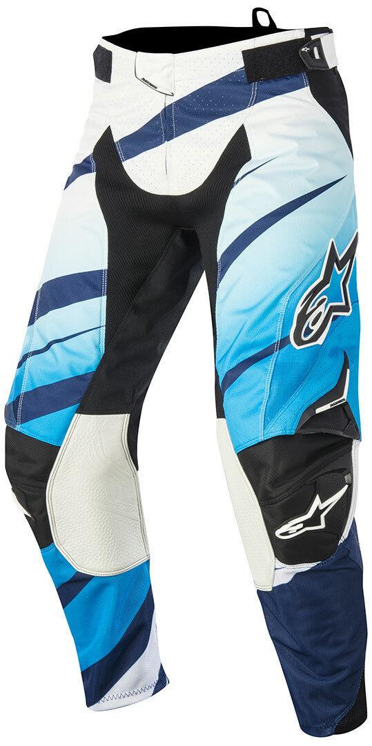Alpinestars Techstar Venom Motocross housut 2015  - Valkoinen Sininen - Size: 32