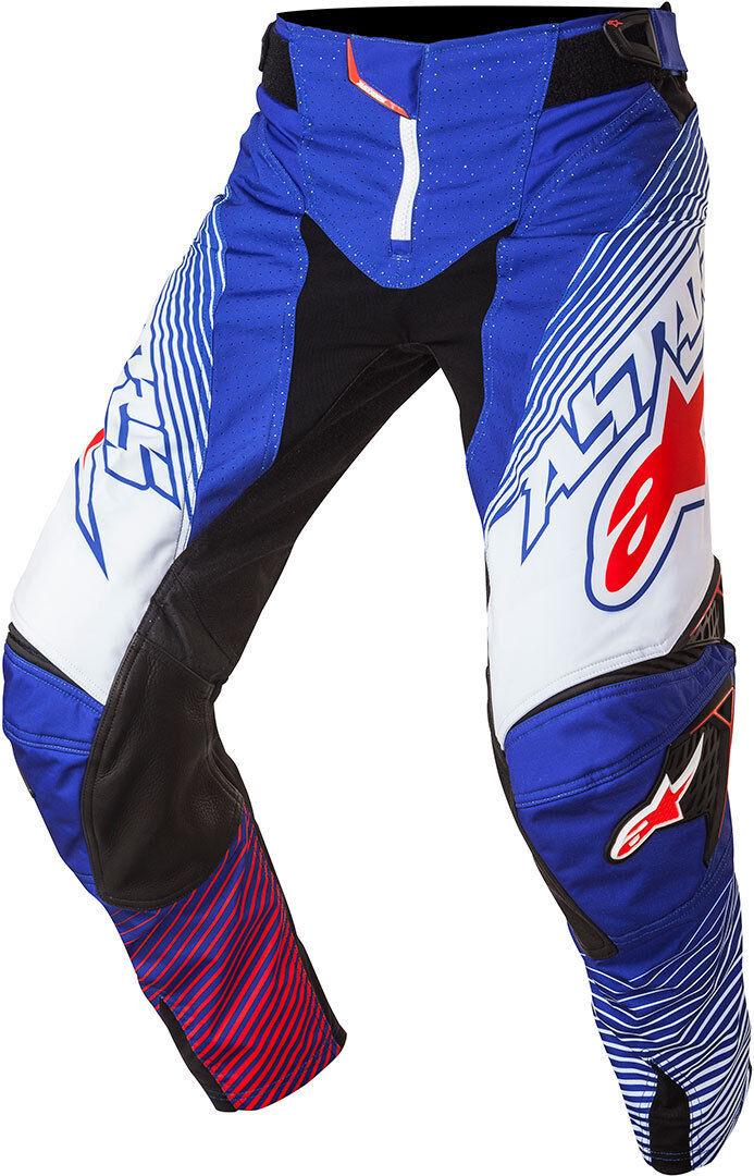 Alpinestars Techstar Factory Motocross housut 2017  - Valkoinen Punainen Sininen - Size: 28