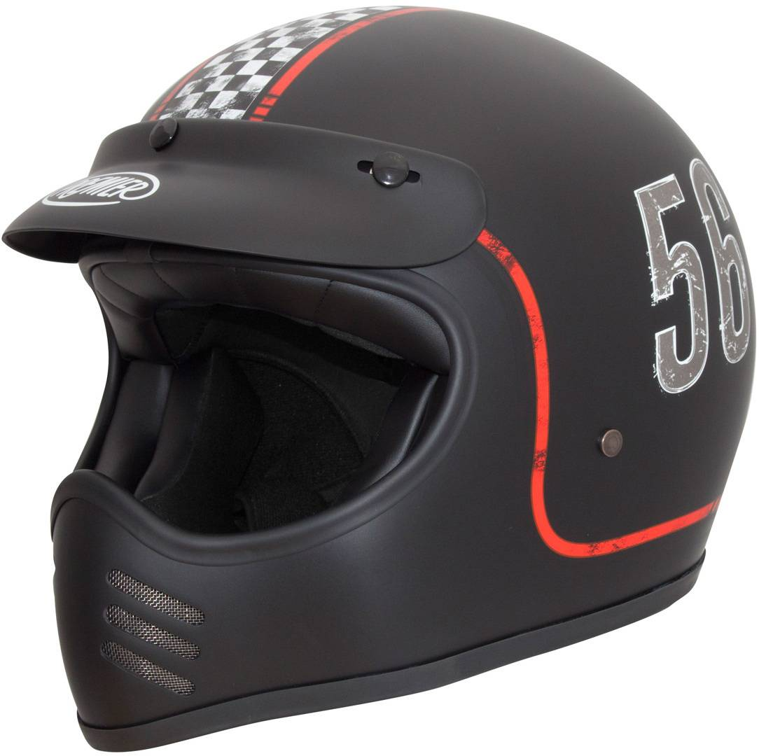 Premier Trophy MX FL 9 BM Motocross kypärä  - Musta - Size: M
