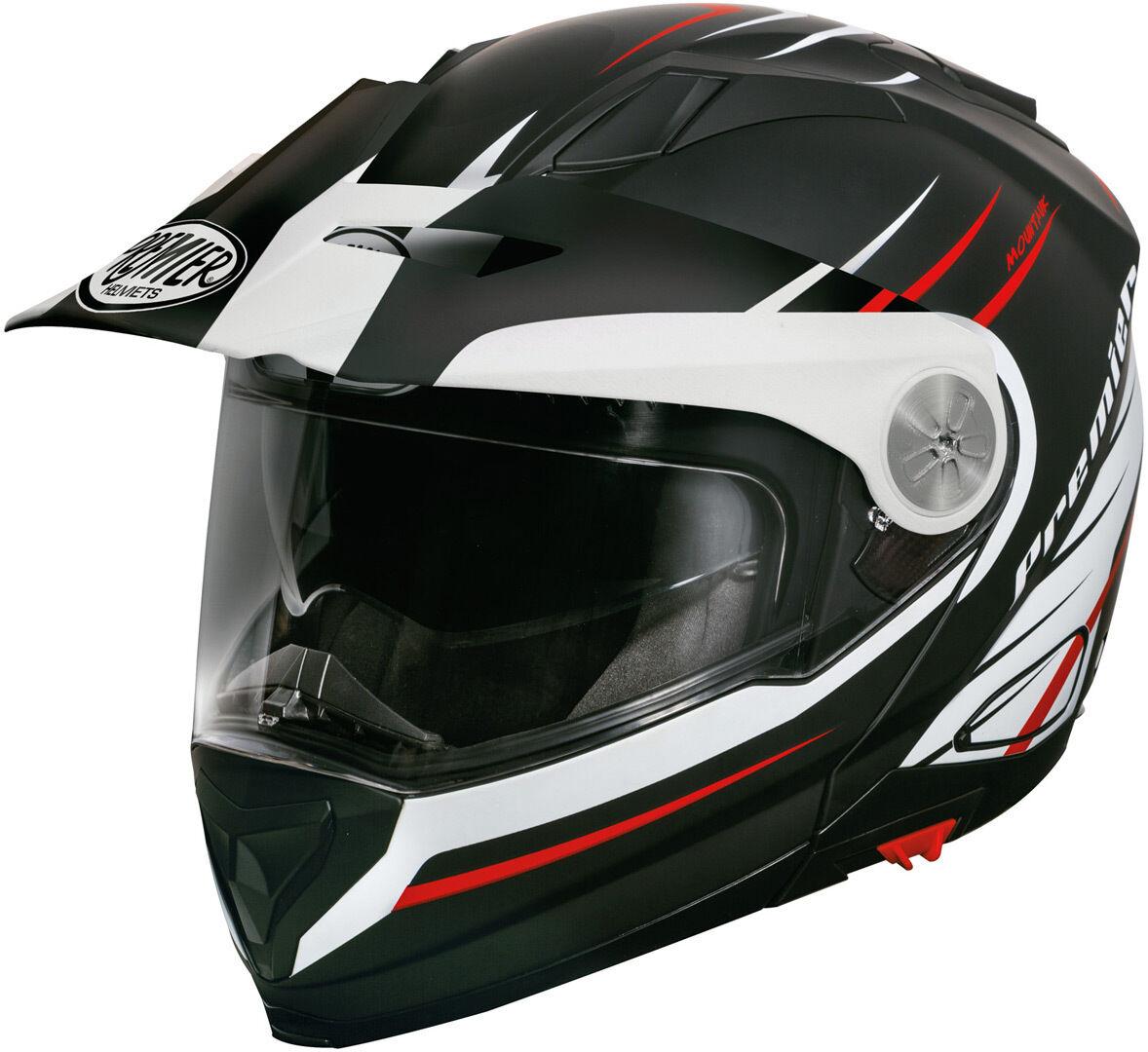 Premier Xtrail MO 92 BM Helmet Kypärä  - Musta Valkoinen Punainen - Size: M