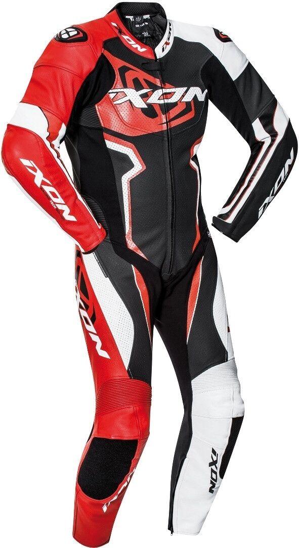 Ixon Falcon Yksiosainen puku  - Musta Valkoinen Punainen - Size: 3XL