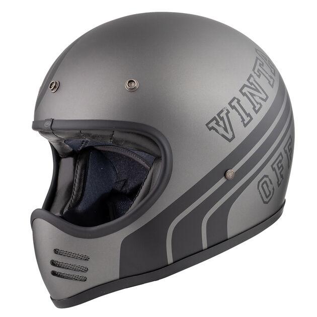Premier Trophy MX BTR 17 BM Motocross kypärä  - Musta Harmaa - Size: M