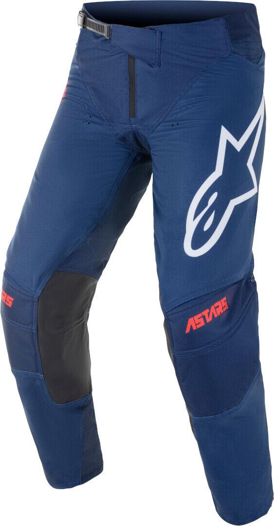 Alpinestars Techstar Venom Motocross housut  - Valkoinen Punainen Sininen - Size: 34