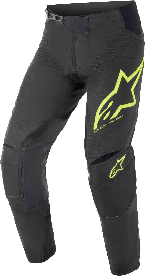 Alpinestars Techstar Factory Motocross housut  - Musta Keltainen - Size: 28