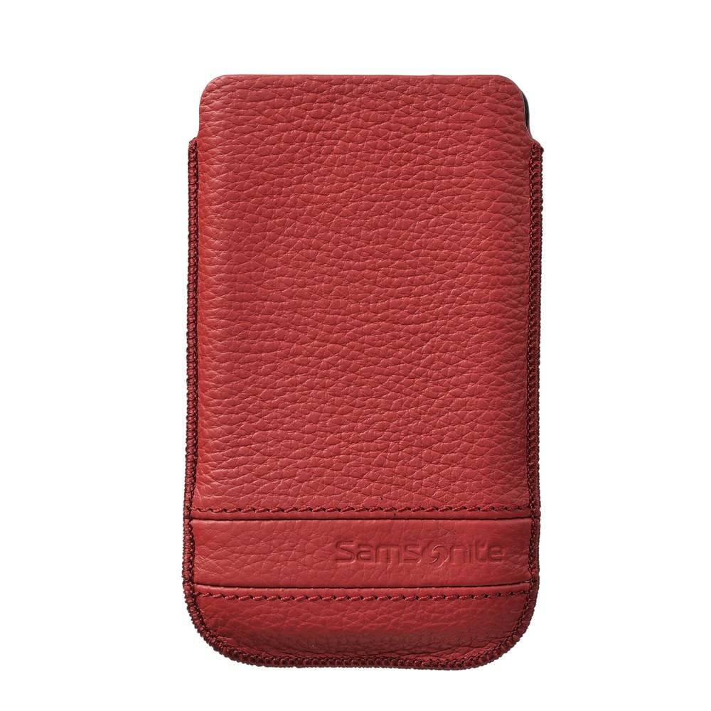 Image of Samsonite Classic Mobile Bag Leather XL Red Size S3