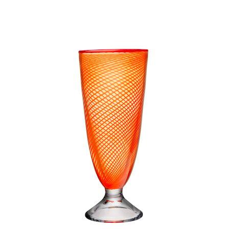 Kosta Boda Red Rim oranssi Vaasi 26 cm