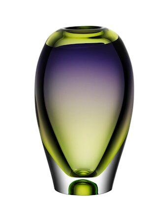 Kosta Boda Vision Purple/Green Vaasi 25,5 cm