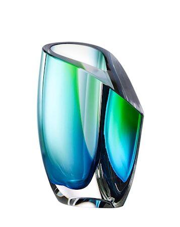 Kosta Boda Mirage Vihreä/Sininen Vaasi 15,5 cm