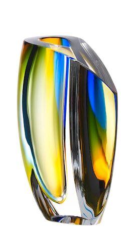 Kosta Boda Mirage Sininen/Meripihka Vaasi 21 cm