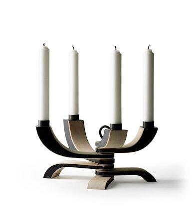 Design House Nordic Light nelihaarainen kynttilänjalka musta