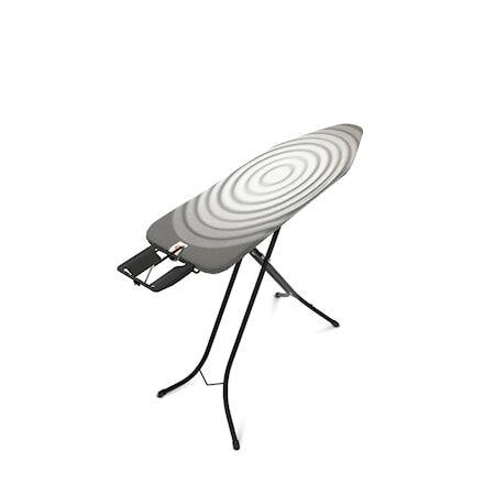 Brabantia Silityslauta Koko B Höyrysilitysrautapidikkeellä, musta raami 22mm 124x38 cm Titan Oval