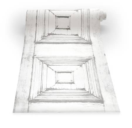 Mineheart Victorian panelling Tapetti – Almost white