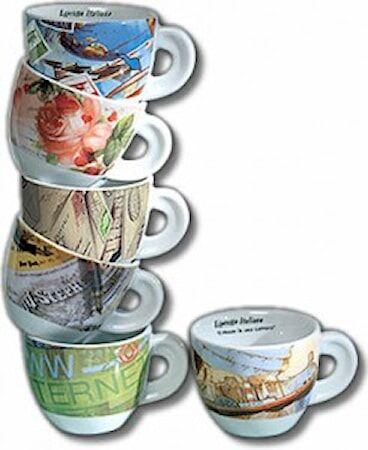Ancàp Lettera Il mondo... Espressokupit 6 kpl