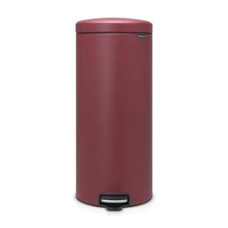 Brabantia Poljinroskakori newicon, muovinen sisäämpäri 30 L Mineral Windsor Red