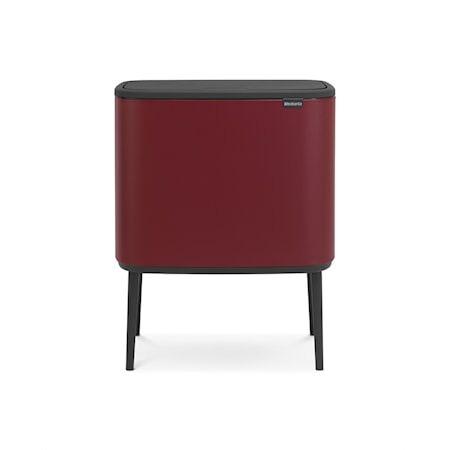 Brabantia Bo Touch Bin, 3 x 11L, Mineral Windsor Punainen