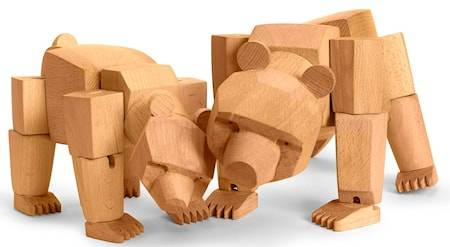 Areaware Ursa the wooden bear
