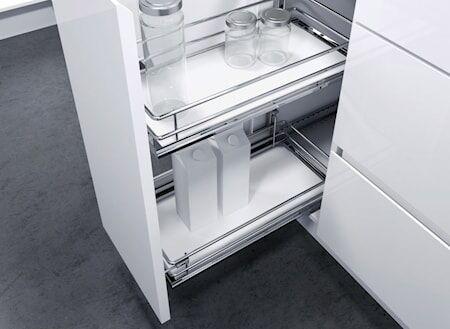 Beslag Design DSA II 200 2koria Valkoinen pohja kromia