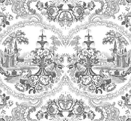 Mineheart Delft baroque Tapetti – Musta