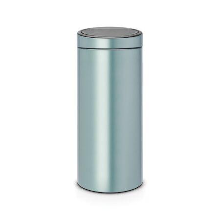 Brabantia Touch Bin Uusi, muovinen sisäämpäri 30 L metalli Minttu
