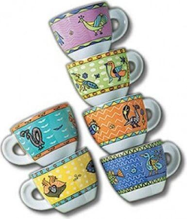 Ancàp Arca di Noè espressokupit ja alusta 6-pack