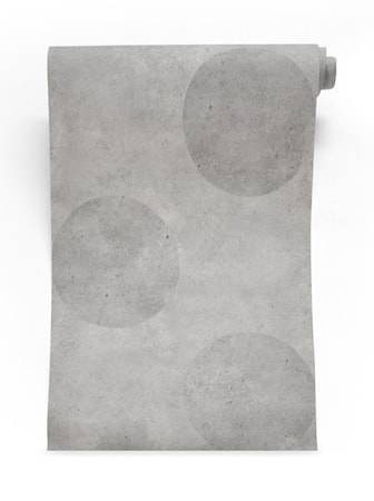 Mineheart Urban concrete polkadot Tapetti – Harmaa
