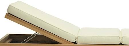 Ethimo Essenza lounge bed Patja - Ivory