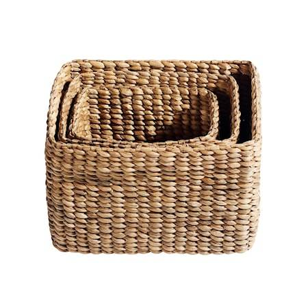 MUUBS Kori Keep it all 3 st Natur Vesihyasintti 40x28x30 cm