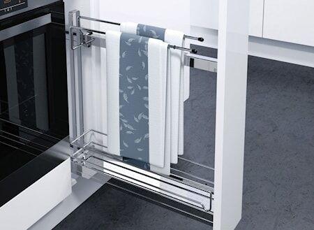 Beslag Design K-150 hylly+hengari Hö kromia