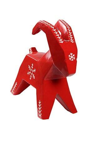 Cult Design Lumihiutale Iso pukki punainen/valkoinen