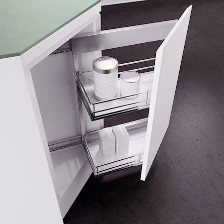 Beslag Design DSA II kulmavedin 35° Vasen 2koria Valkoinen/kromia