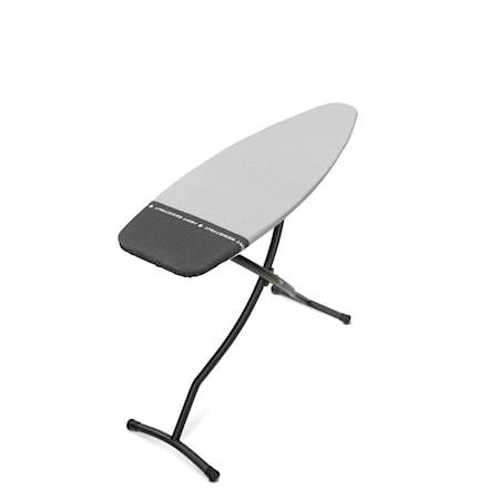Brabantia Silityspöytä Koko D Parking Zone, musta raami 35mm 135x45 cm Hopea