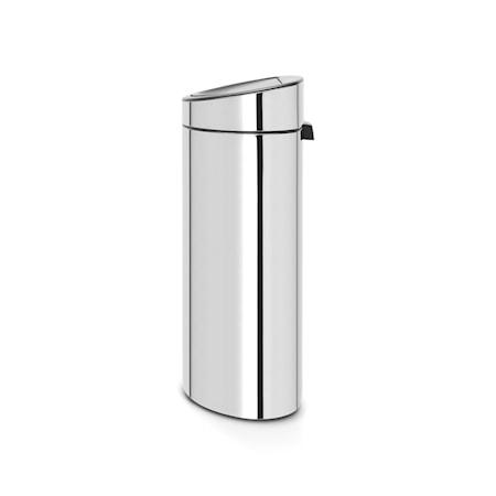 Brabantia Touch Bin Recycle, muovinen sisäämpäri 10/23 L Kiiltäväksi harjattua terästä
